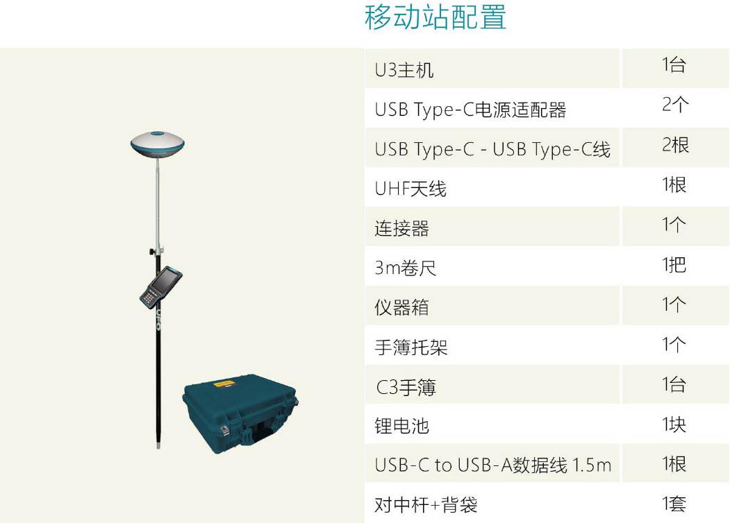 U3 RTK移动站配置清单