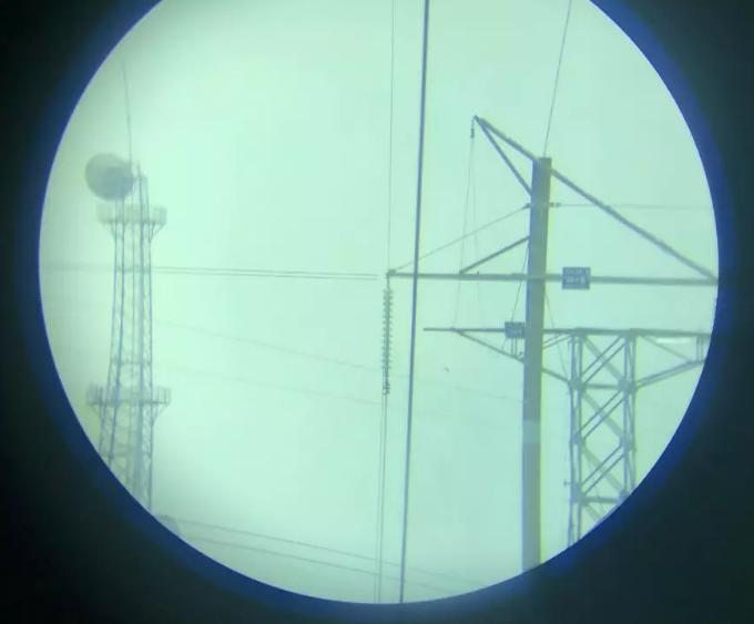 导线滑车线夹处观测角휃望远镜视角