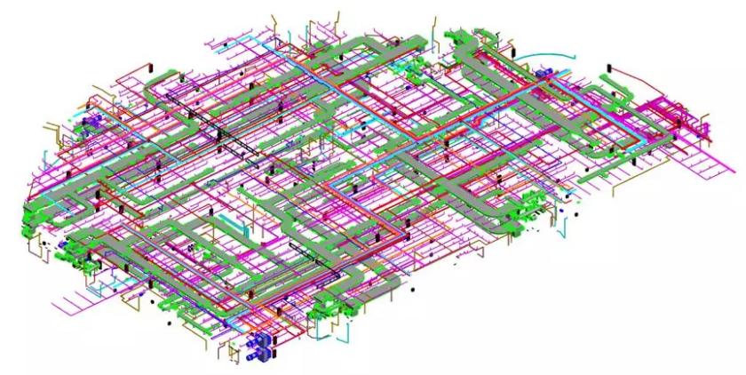 徕卡ICR80建筑BIM版全站仪在某项目MEP放样应用