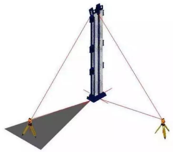 传统钢结构施工垂直度控制方法