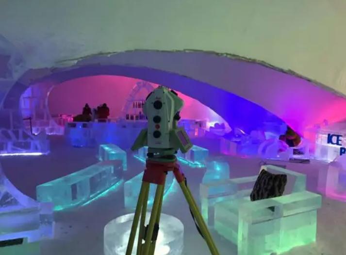 徕卡MS60全站仪在冰雪世界的扫描与建模